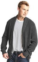 Ribbed shawl collar cardigan