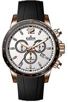 Edox Men's Chronorally S 44mm Rubber Band Swiss Quartz Watch 10229 37rca Air