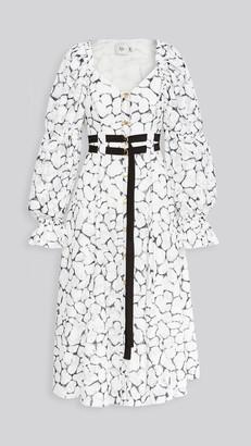 Aje Rebellion Lace Midi Dress