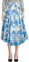 Milly Women's Jackie Floral Midi Skirt