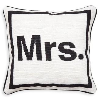 """Jonathan Adler """"Mrs."""" Needlepoint Throw Pillow"""