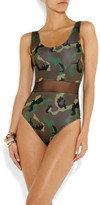 Beth Richards Lucy camouflage-print mesh-paneled swimsuit