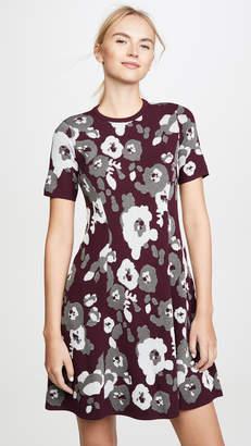 Kenzo Fit & Flare Jacquard Dress