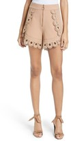 Self-Portrait Women's Lace Trim Shorts