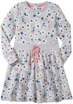 Petit Bateau Floral Print Dress (Toddler/Kid) - Grey/Multi-5 Years