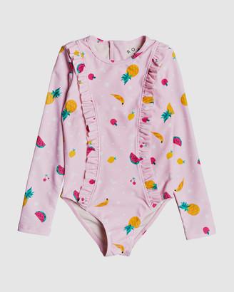 Roxy Girls 2-7 Lovely Aloha Long Sleeve Zipped UPF 50 Rash Vest Onesie