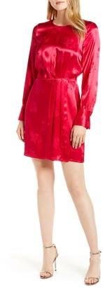 1 STATE Floral Jacquard Sheath Dress