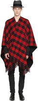 La Méricaine Checked Wool Blend Cape