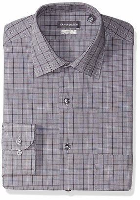 Van Heusen Men's Dress Shirt Regular Fit Check