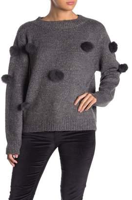 Cliche Genuine Rabbit Fur Pompom Sweater