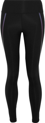 Iris & Ink Abby Metallic-trimmed Stretch Leggings