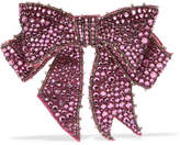 Gucci Crystal, Bead And Crepe Brooch - Pink