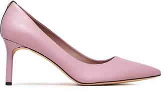 Diane von Furstenberg Ines Suede-trimmed Leather Pumps