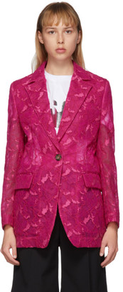 MSGM Pink Lace Blazer