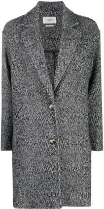Etoile Isabel Marant Zigzag Patterned Knitted Coat
