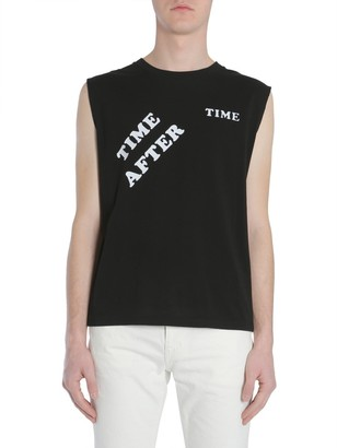 Saint Laurent Raw Edge Sleeveless T-Shirt