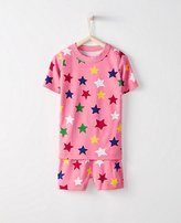 Kids Short John Pajamas In Organic Cotton