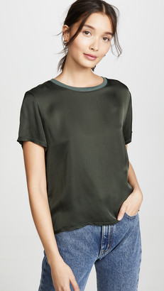 Nation Ltd. Marie Sateen Boxy Crop Top