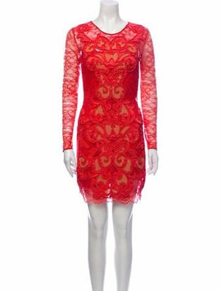 Matthew Williamson Silk Mini Dress Red