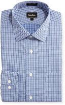Neiman Marcus Classic-Fit Non-Iron Derby Check-Print Dress Shirt, Blue