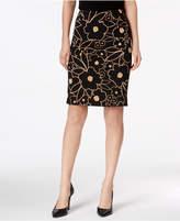 Nine West Printed Pencil Skirt