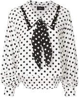 G.V.G.V. printed polka-dot blouse