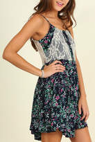 Umgee USA Floral Print Sleeveless Dress