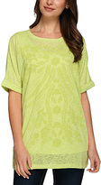 Soft Lime Sheer Floral Dolman Top & Tank - Plus Too