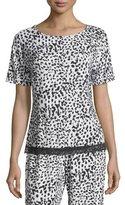 Cosabella Majestic Print Lounge Top, Leopard