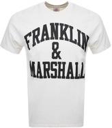 Franklin & Marshall Franklin Marshall Logo T Shirt Cream