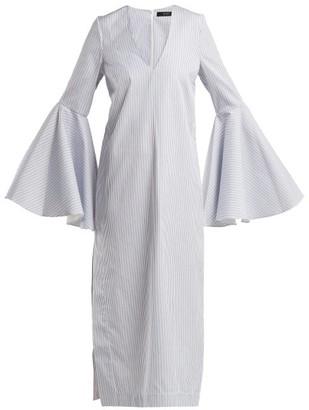 Ellery Hildeberg V-neck Cotton Dress - Womens - Light Grey
