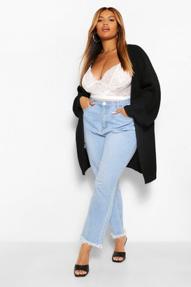 boohoo Plus Balloon Sleeve Boyfriend Cardigan