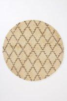 Flokati Crossed Round Rug