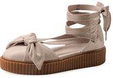 FENTY® PUMA® by Rihanna Leather Bow Creeper Sandal, Pink Tint