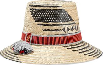 Yosuzi Susana Tassel-trimmed Woven Straw Hat