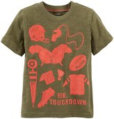 Carter's Football Tee (Toddler/Kid) - Olive-4