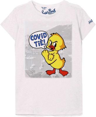 MC2 Saint Barth Covid Tie! Print T-shirt