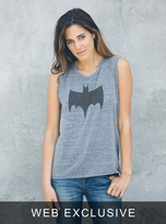 Junk Food Clothing Batman Raglan Tank-steel-m