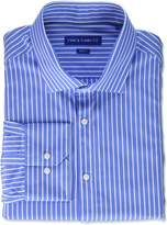 Vince Camuto Men's Slim Fit Classic Striped Dress Shirt, Blue/White