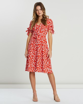 Atmos & Here Tarryn Tie Midi Dress