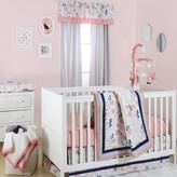 The Peanut Shell Floral Dot 4 Piece Crib Bedding Set