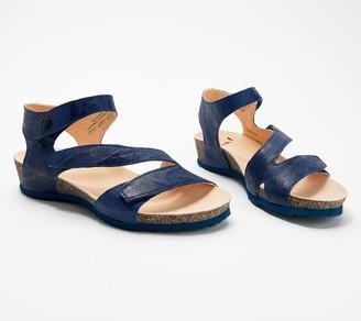 Think! Leather Adjustable Quarter Strap Sandals- Dumia