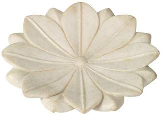 Jamie Young Company Large Lotus Plate, White Marble
