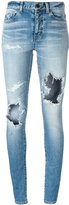 Saint Laurent distressed skinny jeans - women - Cotton/Spandex/Elastane - 26