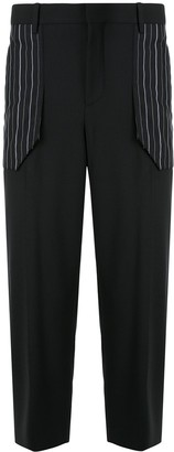 Neil Barrett Contrasting Pockets Tapered Trousers