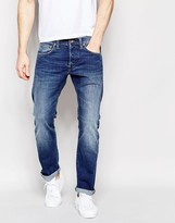 Edwin Jeans Ed-55 Relaxed Tapered Cs Night Blue Mid Trip Used