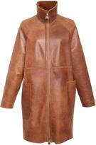 Akris Kangaroo And Leather Coat