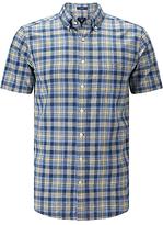 Gant Spinnaker Heather Poplin Short Sleeve Shirt