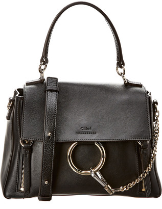 Chloé Faye Day Small Leather Top Handle Shoulder Bag