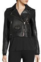 Mackage Cropped Leather Studded Jacket